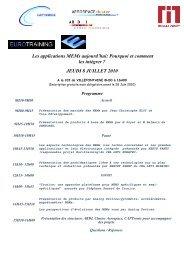 JEUDI 8 JUILLET 2010 - France Clusters