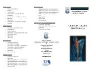 LICENCIATURA EN FISIOTERAPIA - Universidad de Ciencias y ...