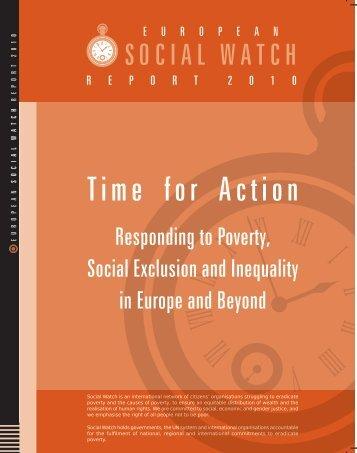 european Social Watch report 2010
