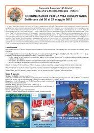 Avvisi domenica 20 maggio 2012 - Decanato