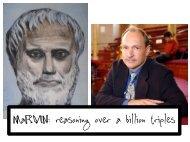 MaRVIN: reasoning over a billion triples - LarKC