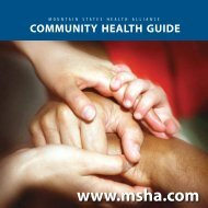 Community Health Guide - Mountain States Health Alliance