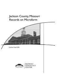 Jackson County, Missouri Records on Microform