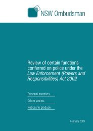 (Powers and Responsibilities) Act 2002 - NSW Ombudsman - NSW ...