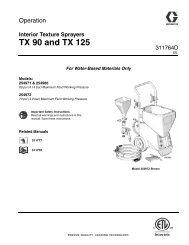 311764D - TX90 and TX125 Interior Texture Sprayers ... - Graco Inc.