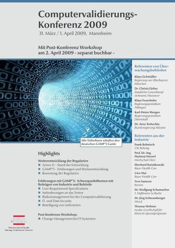 Computervalidierungs- Konferenz 2009 - GMP-Navigator