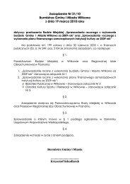 Sprawozdanie roczne z wykonania budżetu Gminy i Miasta Witkowo ...