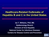 Healthcare-Related Outbreaks of Hepatitis B and C - Viral Hepatitis ...