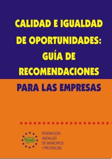 calidad e igualdad de oportunidades - Federación Andaluza de ...