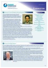 E-NEWSLETTER - OSPAR Commission