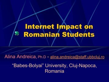 Internet Impact on Romanian Students