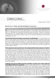 Newsletter vom 07. April 2012 - TOP-Investment GmbH
