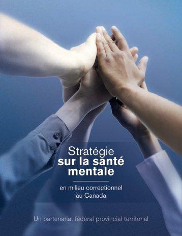 Stratégie sur la santé mentale en milieu correctionnel au Canada