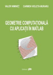 Geometrie computationala cu aplicatii in matlab - PIM Copy