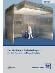 Der UniFlow® Freiarbeitsplatz Für den Personen- und Produktschutz