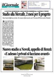 Stadio alla Mercafir, 2 mesi per il progetto - Comune di Firenze