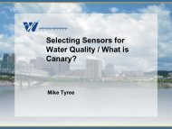 Selecting Sensors for Water Quality / What is Canary? - Ohiowater.org