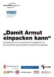 MDG-Schattenbericht 2008 - Venro
