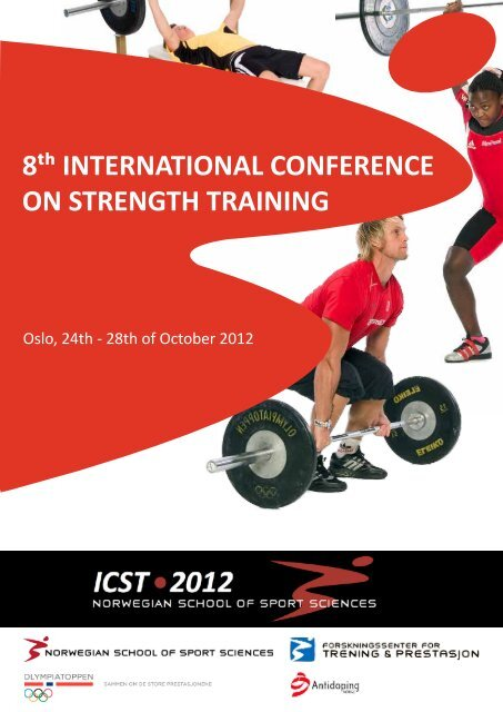 8 INTERNATIONAL CONFERENCE ON STRENGTH TRAINING