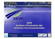 SEVE Système d'Evaluation des Variantes ... - CoTITA