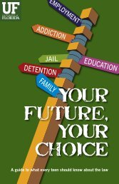 Your FutUre, yOUR choiCE - Levin College of Law - University of ...