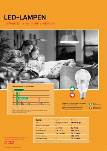 LED-LAMPEN - Schweizerische Energie-Stiftung