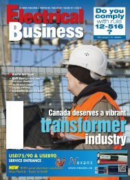 EB June2013 - Electrical Business Magazine