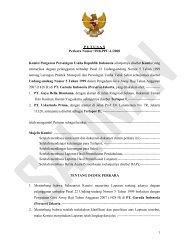 1 P U T U S A N Perkara Nomor: 09/KPPU-L/2008 Komisi Pengawas ...
