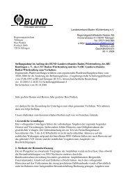 Stellungnahme im Auftrag des BUND ... - BUND Neckar-Alb