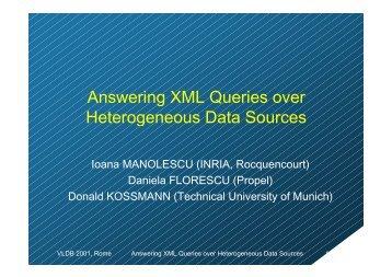 Answering XML Queries over Heterogeneous Data Sources - Inria