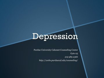 Depression - Purdue University Calumet