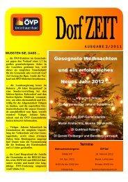 Dez 2011 | DorfZEIT - für Unterfrauenhaid...