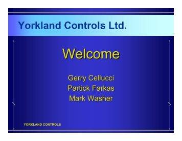 VFD Training Presentation May 25, 2007 - Yorkland Controls