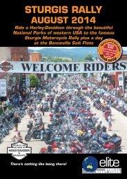 a copy of the Sturgis 2014 brochure - Elite Special Event Tours