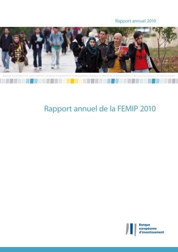 Rapport annuel de la FEMIP 2010 - European Investment Bank