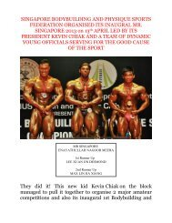 SINGAPORE BODYBUILDING AND PHYSIQUE SPORTS ... - ABBF