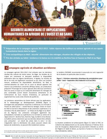 Sécurité alimentaire et implications humanitaires en Afrique ... - FAO