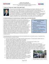 SAFECOM-NCSWIC Joint Session Executive Summary