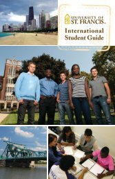 International Brochure - University of St. Francis