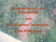 Environmental Law Enforcement and Investigation Techniques - Inece