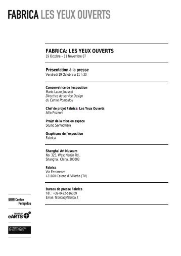 FABRICA: LES YEUX OUVERTS