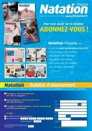 ABONNEZ-VOUS ! - Fédération Française de Natation