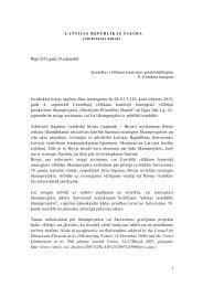 Saeimas Juridiskais birojs - Centrālā vēlēšanu komisija