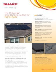 The OnEnergy Solar Racking System for Flat-Tile Roofs