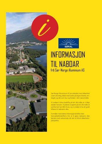 Info til naboar - Sør-Norge Aluminium AS