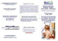 pieghevole - Azienda Ospedaliera Ospedali Riuniti Villa Sofia