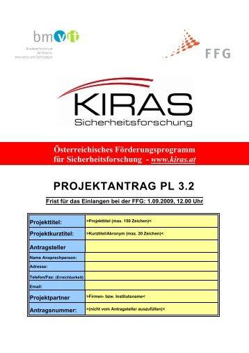 PROJEKTANTRAG PL 3.2 - KIRAS Sicherheitsforschung