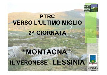 lessinia - PTRC Piano Territoriale Regionale di Coordinamento