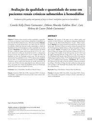 Avaliação da qualidade e quantidade do sono em pacientes renais ...