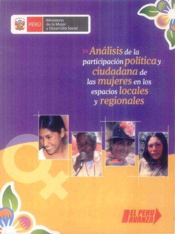 Análisis de la Participación Política y Ciudadana ... - Bvs.minsa.gob.pe